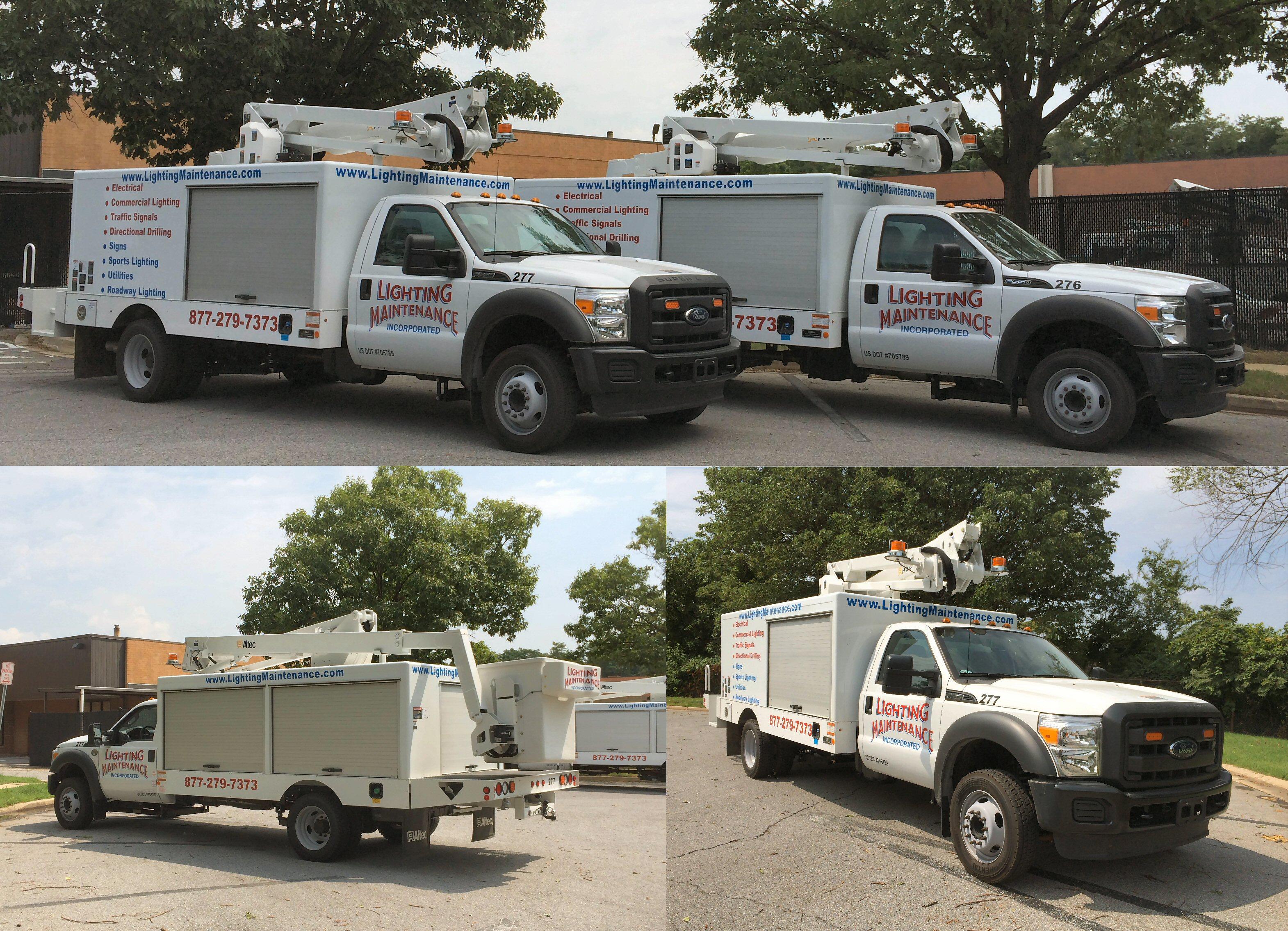 Altec bucket trucks with 48' reach