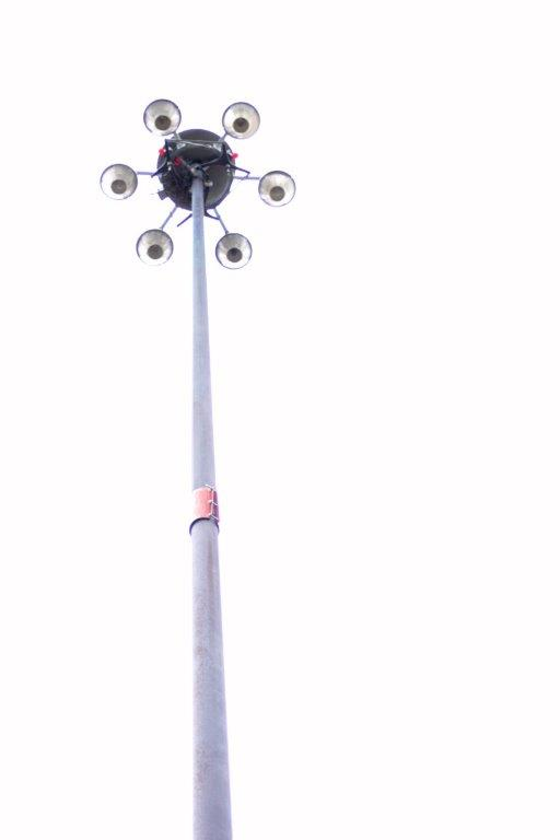 high mast pole lighting